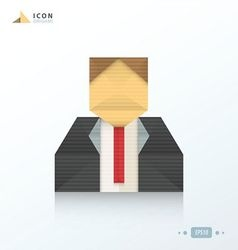 Human icon origami vector image