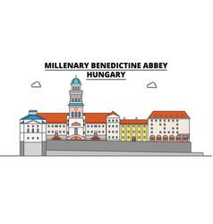 hungary millenary benedictine abbey travel vector image