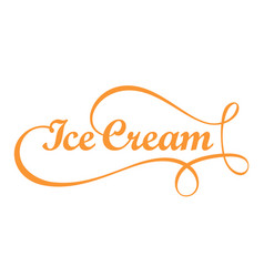 ice cream card logo vector image