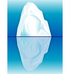 iceberg and its reflection vector image