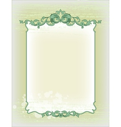 imperial frame grunge background vector image