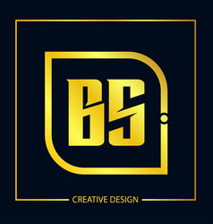 initial letter bs logo template design vector image