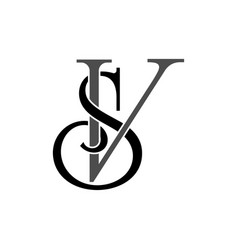 initial letters sv monogram logo vector image