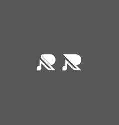 initial r logo icon vector image