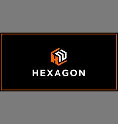 Kn hexagon logo design inspiration vector