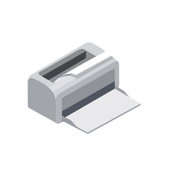 laser printer isometric 3d icon vector image