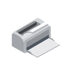 laser printer isometric 3d icon vector image