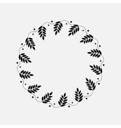Laurel wreath circle tattoo sticks with berryes vector