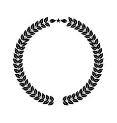 laurel wreath for your logo or symbol design flat vector image