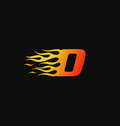 letter o burning flame logo design template vector image