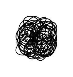 Messy chaotic scribble circle line isolated vector