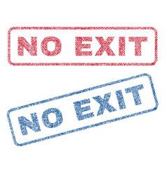 No exit textile stamps vector