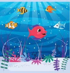 of underwater world vector image
