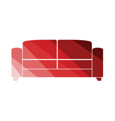 Office sofa icon vector