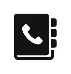 phone book icon vector image