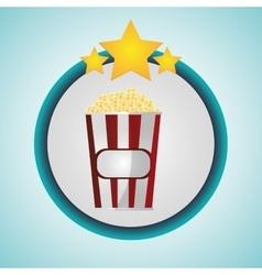 Pop corn cinema and movie design vector