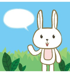 Rabbit Said vector image