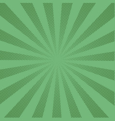 retro rays comic green background raster gradient vector image