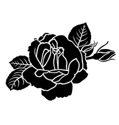 Roses flower and bud vector