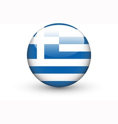 Round icon with national flag of Greece vector image