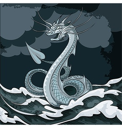 Sea dragon vector image