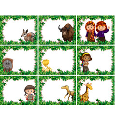 set nature frame vector image