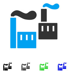 Smoking industry flat icon vector
