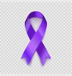 stock purple ribbon vector image