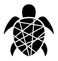 striped turtle icon simple style vector image
