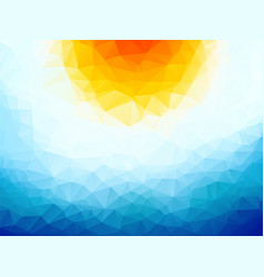 sun over the ocean triangular background vector image