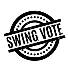 swing vote rubber stamp vector image