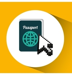 Traveling concept technology passport design vector