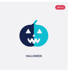 Two color halloween icon from birthday party and vector