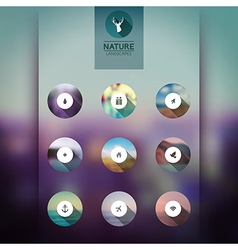 web and mobile interface template icons blurred vector image
