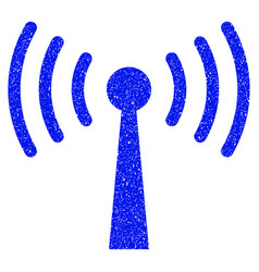 wi-fi station grunge icon vector image