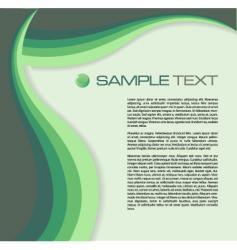 brochure green vector image