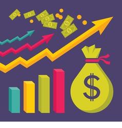 Business dollar trend graphics vector