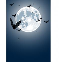 Halloween night with moon vector image