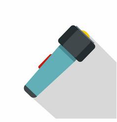 hand flashlight icon flat style vector image vector image