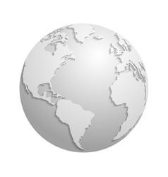 origami white paper world globe 3d vector image vector image