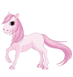 Pink Horse vector image vector image