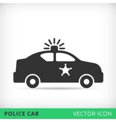 Police car flat icon vector