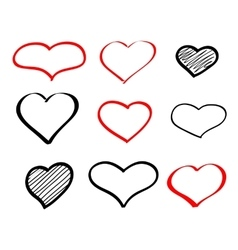 Abstract hand-drawn doodle heart vector image