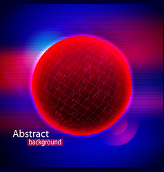 abstract sphere shape of glowing circles and vector image