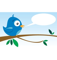 bird on branch vector image vector image