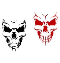 Smiling skulls vector image