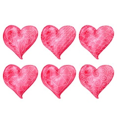 Valentines Heart Collection vector image