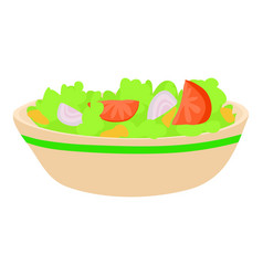 salad icon cartoon style vector image