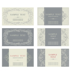 Set of templates for business cards vector image