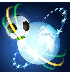 Soccer space vector image vector image